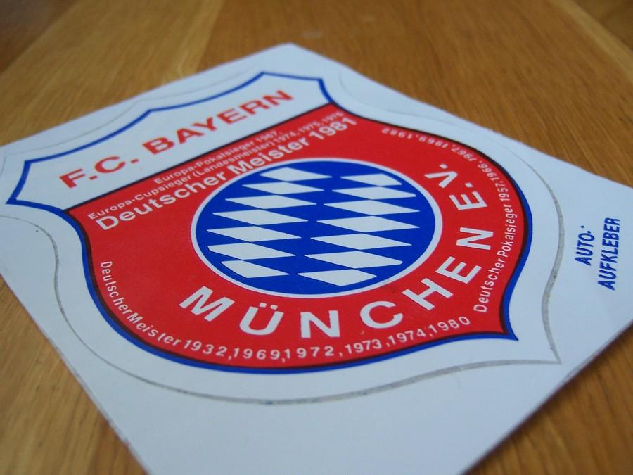 Original 80er Fc Bayern Auto Aufkleber Vintage Zu Kaufen