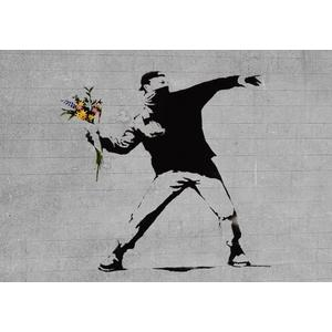 Bansky flower brick thrower