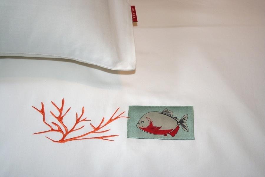 edle bio bettw sche 135x200 40x80 mit stickerei zu. Black Bedroom Furniture Sets. Home Design Ideas