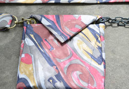 Tietui thescream belt bag made from vintage tie substantielles minimum  5