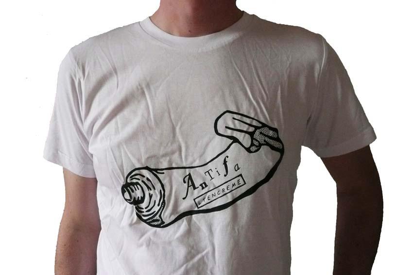 Antifa / Antifaltencreme Fairtrade Bio T-Shirt Männer, XL..