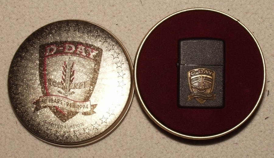 Zippo Feuerzeug D,Day Normandy Normandie 50 Years 1944,1994