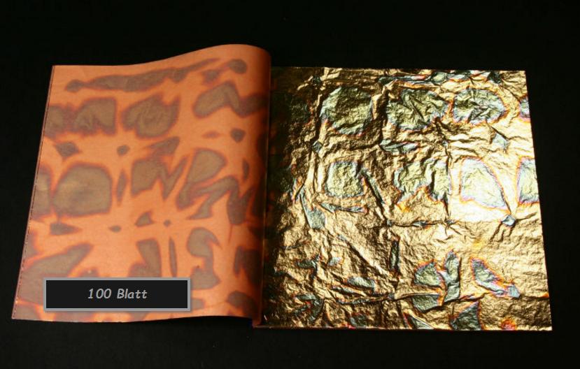 Blattgold Green Geflammt 100 Blatt Top Qualität Hobby