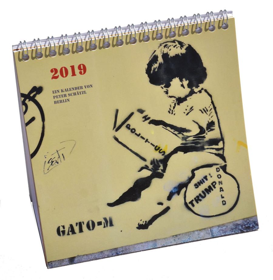 Kalender Tischkalender Stencil Streetart 2019 Zu Kaufen Bei