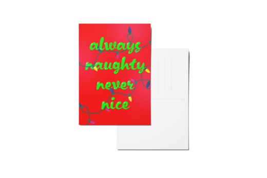 Always naughty never nice mockup