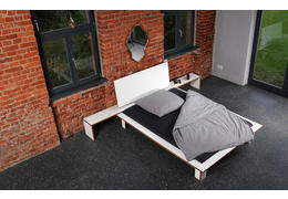 Bett purista shift mdf weiss